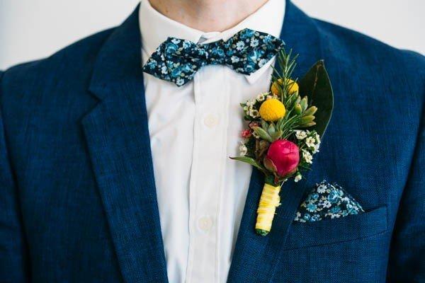 A groom's suit by Brisbane Wedding photographer Kirsty McPhee from Wildflower Weddings