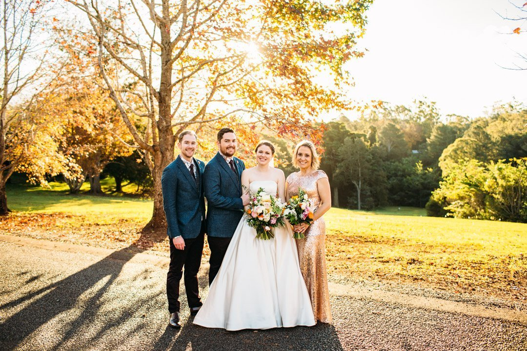 Bridal party at Spicers Clovelly Estate wedding