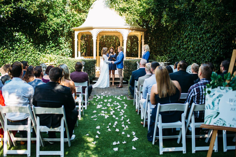 Ceremony space at Tamborine Gardens wedding venue